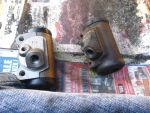 Old and new wheel cylinders