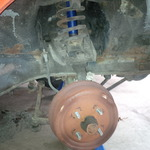 Old passenger side front suspension