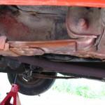 Part of the passenger side rear frame rail