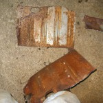 Pieces from the old rear floors.