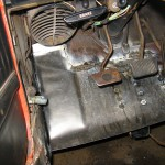 DS toe board partially welded in place