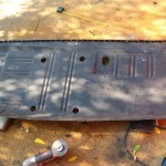 DS floor pan trimmed and holes drilled